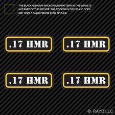 (4x) .17 HMR Ammo Can Sticker Set Decal Self Adhesive molon labe bullet type 2