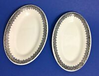 "Vintage Shenango China Restaurant-Ware Small Oval 6.25"" Dishes, Set of 2"