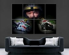 "Joey Dunlop Large Wall Art Poster Print 43"" x 30"""