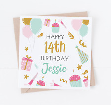 Personalised Happy Birthday Card - Personalise with any age - Teenager - Girl -