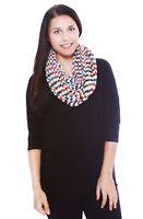 Women's Girls Winter Warm Cable Knitted Infinity Neck Scarf Scarves Shawl