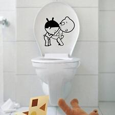 Funny Toilet Sign Stickers Bathroom Restroom WC Door Vinyl Decal Removable Decor
