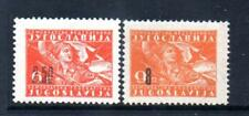YUGOSLAVIA MNH 1946 SG525-526 (TYPE OF 1945 GIRL WITH FLAG) SURCH
