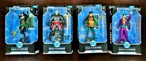 McFarlane Toys DC Comics Multiverse 4 Figure Lot Batman Thomas Wayne Joker Robin