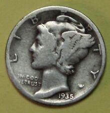 US Mercury silver Dimes Price per Each Coin 1935-D 1936-D 1937-D   CHECK Inv