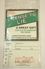Vintage Novelty License To Lie joke april fool party birthday gift