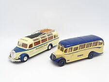 Corgi 1/50 - Bus Car Autocar Bedford Coach + Mercedes O3500 (Dinky)