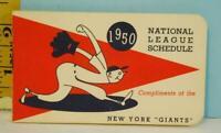 1950 New York Giants National League Baseball Schedule Flip Book NM