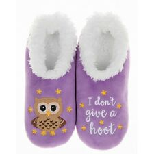 Snoozies washable cosy feet coverings Style simply pairables Owl Hoot  Lavender