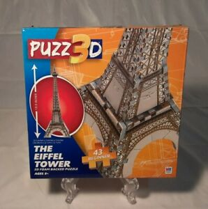 Puzz 3D Eiffel Tower 43 Beginner Level 13.5 Inches Tall Milton Bradley Brand New