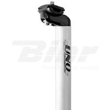 TS555-28,6 Reggisella bianco UNO Ø28,6mm in alluminio lungo 400mm