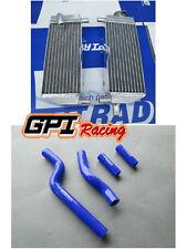 Aluminum radiator+BLUE hose for Yamaha YZ250 YZ 250 1996-2001 1997 1998 1999