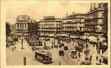 Madrid Spanien España AK ~1920/30 Puerta del Sol Platz Straßenbahn Autos Tram