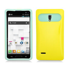 LG Optimus L9 T-Mobile P769 Hybrid Case Skin Pastel Cover Yellow Light Green