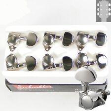 Schaller M6 Vintage tuners/machine Heads, 3x3 Nickel, 10110123.13.36