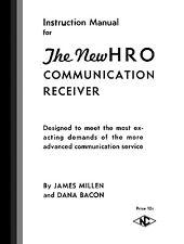 NATIONAL HRO Communication Receiver Manual