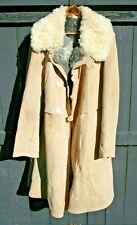 Vintage Soviet Xl Russian Ussr Leather Yak Uniform Coat Jacket Military