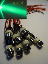 20X 5mm grün grüne LED 24.000mcd Chromfassung 12Volt ledschraube verkabelt 12v