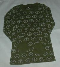 Green Soda Girls Long Sleeve Green Peace Shirt  Size S (6-6x)