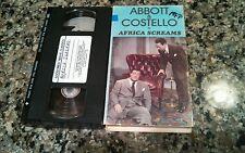 ABBOTT & COSTELLO IN AFRICA SCREAMS RARE VHS! GOODTIMES VIDEO 1949