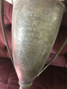 Antique YMCA first place Americana Early Loving trophy cup prize Nautical Rare
