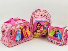 Disney Store Princess Backpack Bookbag Lunchbox Girls New Jasmine Ariel Rapunzel