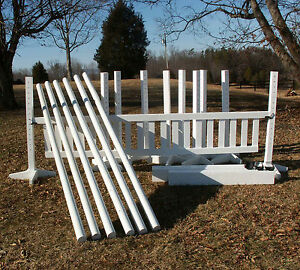 8 Jump Package 49PC Horse Jumps 5ft WHITE - Reg $3,772