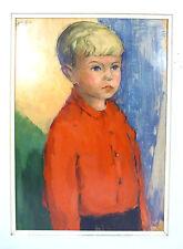 Großes Porträt eines Jungen Ölbild Portrait Kind Junge