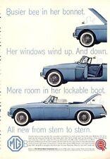 1962 British Motor Corporation PRINT AD Great vintage photo ad Blue Convertible