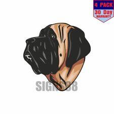 English Mastiff Dog 4 pack 4x4 Inch Sticker Decal