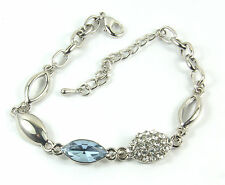 Women's 14 Carat White Gold plated Purple crystal bracelet Jewellery