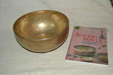Tibetan Singing Bowl 9 inch  Meditation Chakra Therapy Hand made + Free Book
