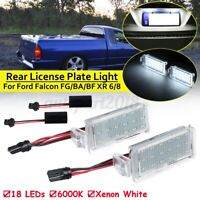 Pair 18 LED SMD Rear License Plate Light Lamp For Ford Falcon FG BA BF XR 6 / 8