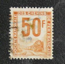 TIMBRES DE FRANCE : 1944/47 COLIS POSTAUX YVERT N° 15 Oblit. 50 Francs ORANGE