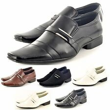 New Mens Italian Style Formal / Wedding Slip on Shoes In UK Sizes  6-11