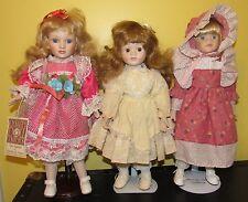 ~Vintage Porcelain Dolls Dynasty Monica Heritage Mint with Stands~