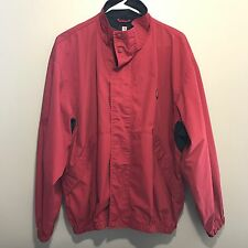 Chaps Ralph Lauren Red Jacket Size XL Windbreaker 90s Vintage Plaid Made Russia