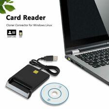 Chipkartenleser SIM Kartenleser Personalausweis Lesegerät Smart Card Reader #D
