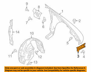 Ford/Lincoln OEM 2013-2019 MKT Front Right Fender Brace Bracket DG1Z16A142A New