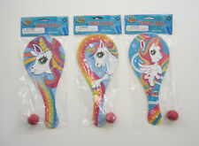 12 Unicorn Paddle Balls Princess Party Goody Loot Bag Filler Favor Game Toy