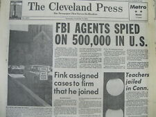 1975 headline newspaper US Congress findsThat FBI SPIED on 500,000 persons in US