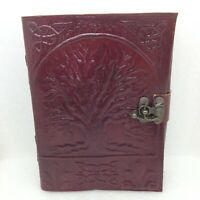 Embossed Leather Grimoire TREE of LIFE Celtic Knot Journal Book of Shadows