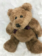 Boyds Collection Bears In the Attic Hawley Plush Purple Bow Vtg Retired 1991 Nwt