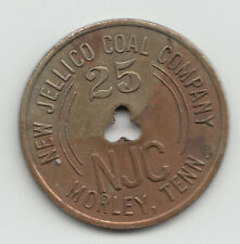 New Jellico Coal Company 25 cents 1940 coal scrip token Morley Tennessee 107
