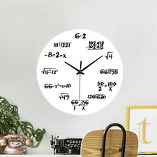 Noiseless Modern Wall Clock Math Formulas Number Creative Acrylic Home Decor