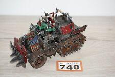 Warhammer 40k Space Orks - Forgeworld Ork Half Trukk LOT 740 Painted