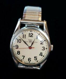 Vintage BALL Official Railroad Standard Men's Wristwatch 1604B 21 Jewel Running