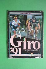 Magazine LA GAZZETTA DELLO SPORT 1991 LE GUIDE SUL GIRO D'ITALIA CICLISMO BUGNO
