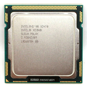 Intel Xeon X3470 2.93GHz/8M 4 Cores 8 Threads LGA 1156 CPU (Better than i7 875K