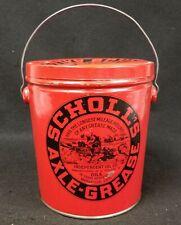 Antique Scholl's Axle Grease Bucket Pail Black Americana